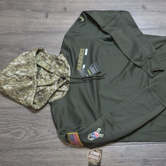 68100ea3335 Nike Jackets & Coats | Nfl Oakland Raiders Salute To Service Olive ...
